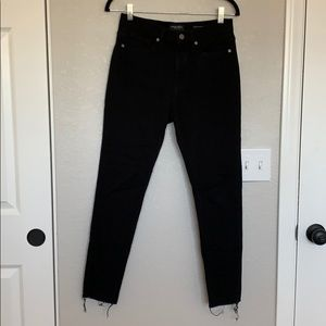 Banana Republic black raw hem skinny jeans
